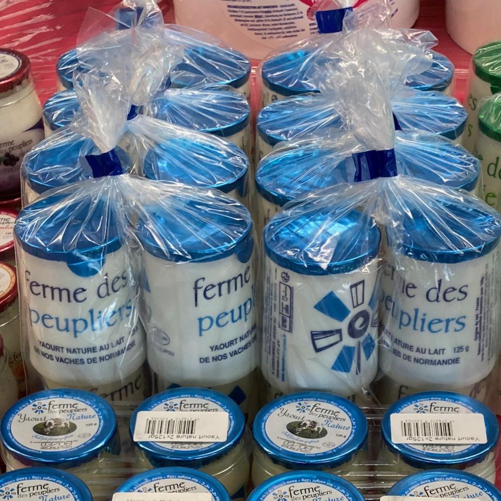 Yaourts entier X 4 125gr Ferme des Peupliers (bleu)
